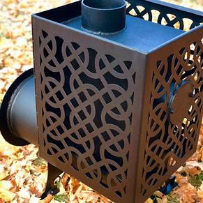 """Печь для сауны """"Уют"""" с ажурной сеткой для камней, фото 2"""