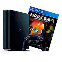 Ігрова приставка Sony PlayStation 4 Slim 500 Gb Black + Minecraft (Sony PS4 Slim 500Gb + Minecraft)
