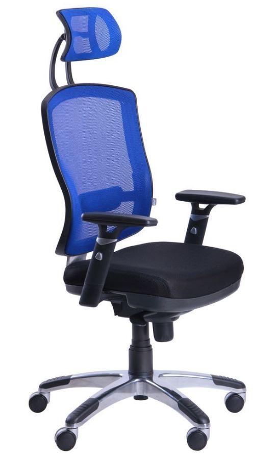 Кресло Коннект HR сиденье Сетка черная/спинка Сетка синяя