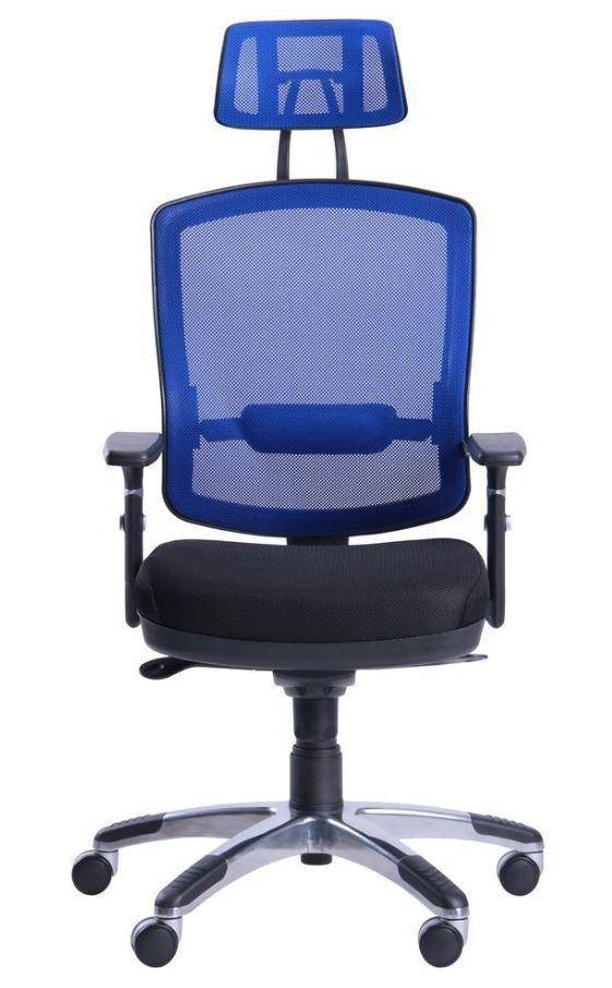 Кресло Коннект HR сиденье Сетка черная/спинка Сетка синяя (фото 2)
