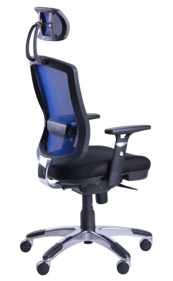Кресло Коннект HR сиденье Сетка черная/спинка Сетка синяя (фото 3)