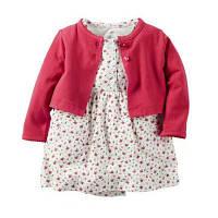 Летний комплект для девочки (платье + кофточка) , Распродажа! Скидка -30% : 12M,18M,24M,6M,9M
