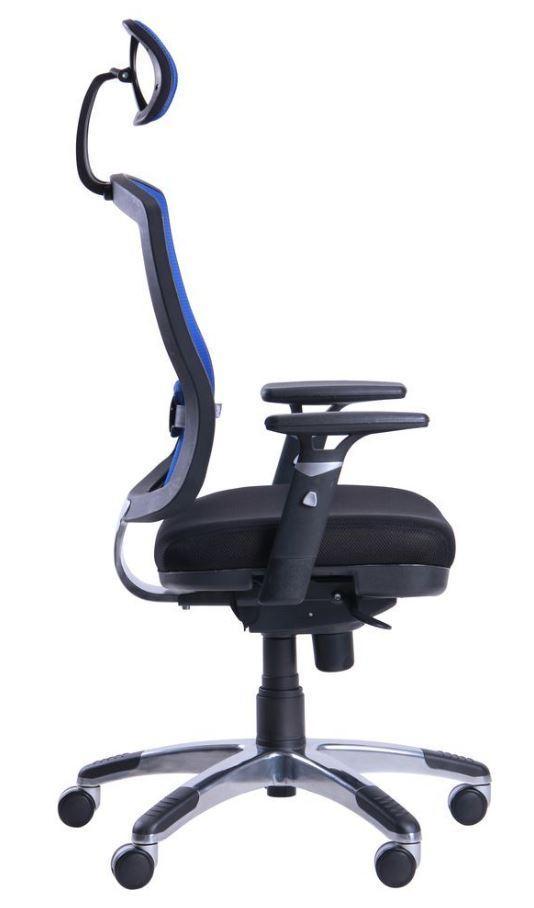 Кресло Коннект HR сиденье Сетка черная/спинка Сетка синяя (фото 4)