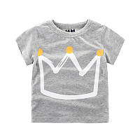 Стильная детская футболка с короной , Распродажа коллекции -30%, размеры: 140см,90см
