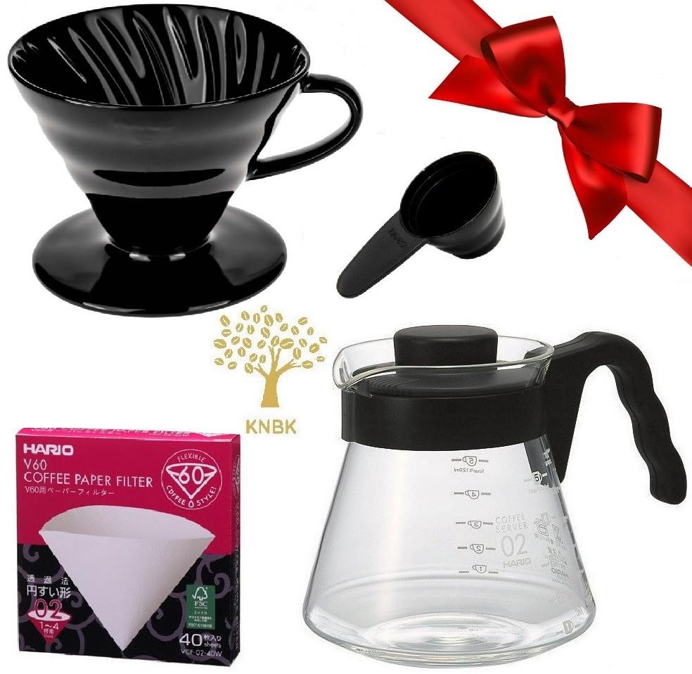 Подарочный набор HARIO V60 02 (Керамика) для альтернативного заваривания кофе