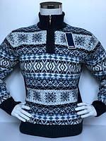 5afa8c5063071 Свитер мужской теплый вязаный большого размера FIVE 5 с зимним орнаментом