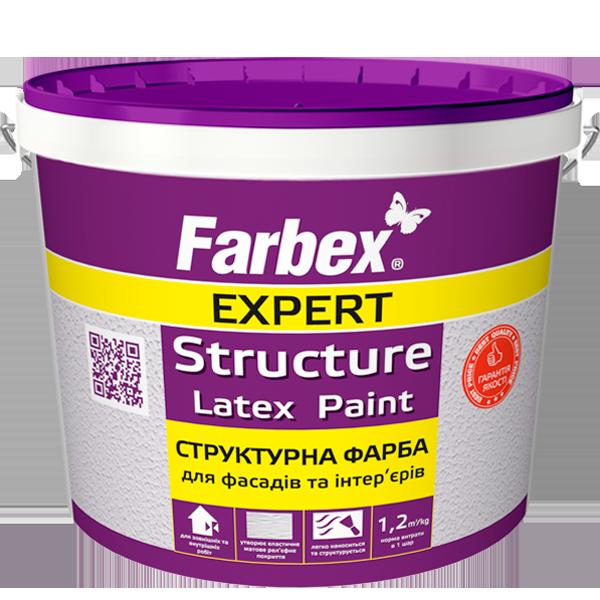 Структурная латексная краска для фасадов и интерьеров - Farbex (7 кг)