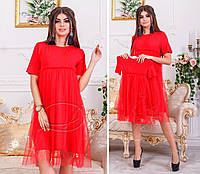 Платье МАМА -ДОЧКА в цветах