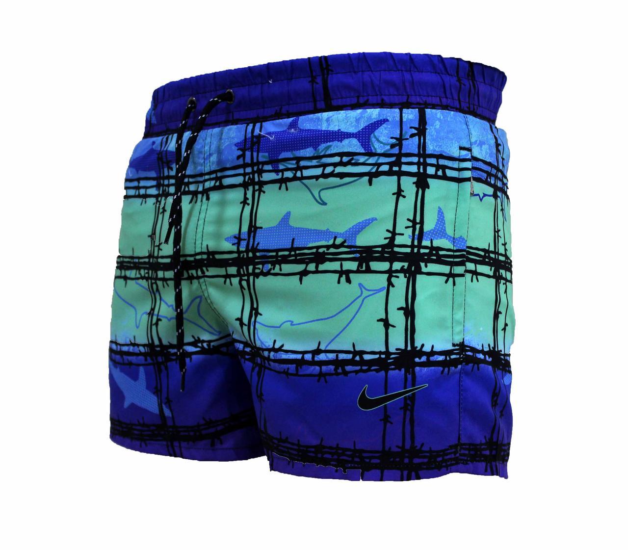 Мужские спортивные короткие яркие шорты плащевка (Реплика)