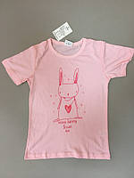 Футболка розовая для детей , Mega Sale -25% off, размеры : 18M,2T,3T,4T,5T,6T
