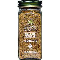Simply Organic, Специи для гриля, Для овощей, Органические,  (62 г) made in USA