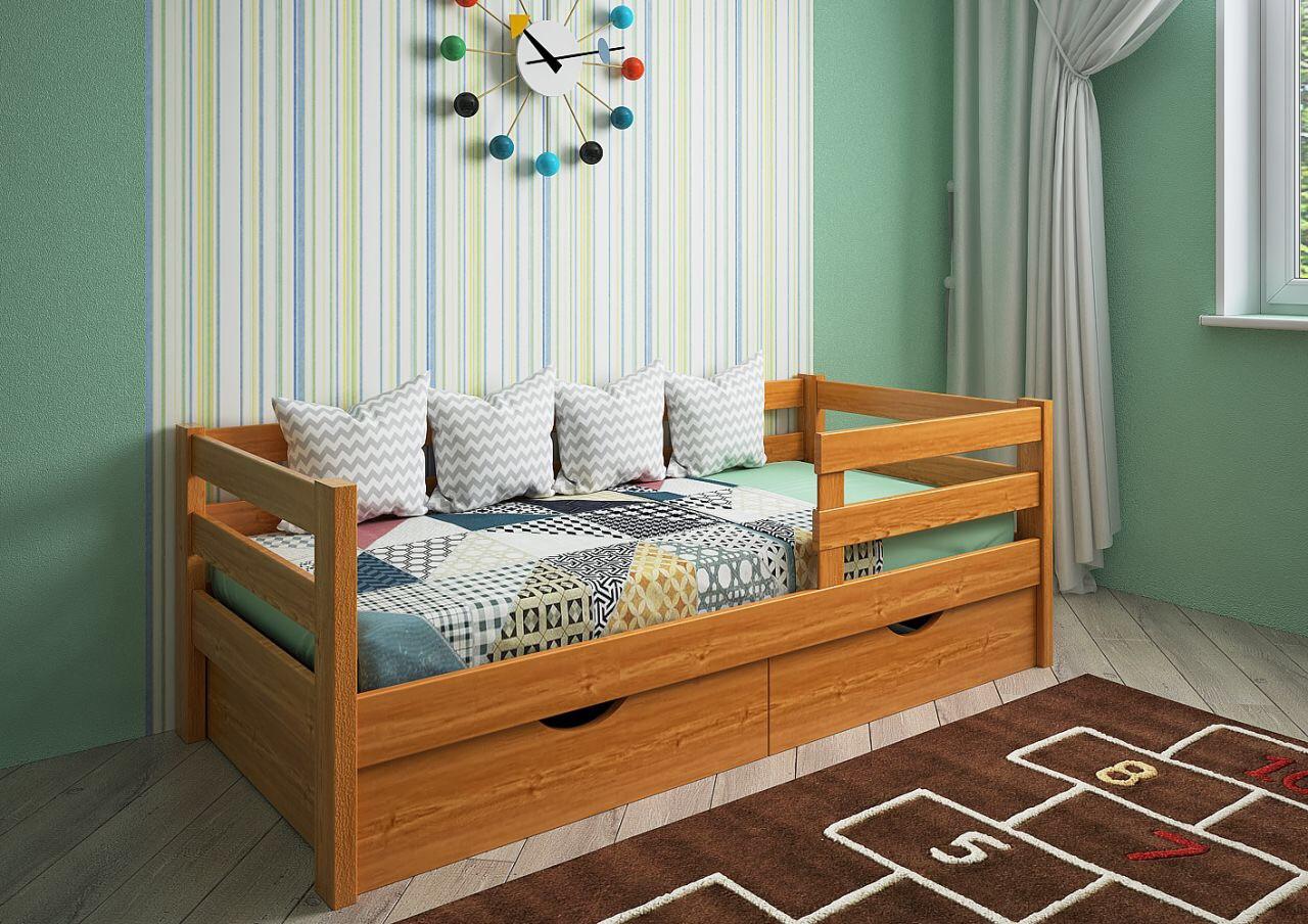 Кровать детская подростковая Нота, массив ясень