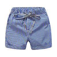 Детские синие шорты в полоску, натуральный материал , Final Sale -40%, размеры: 100см,120см