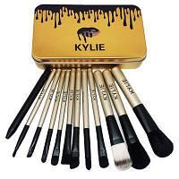 Кисточки для макияжа Make-up brush set Gold Акция!