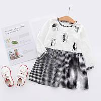 Модное платье для детей с вышивкой , Распродажа! Скидка -30% : 100см,120см,140см,150см