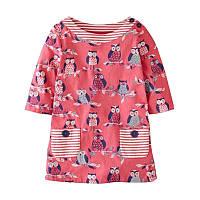 Детское красное платье с рисунком Совы , Распродажа! Скидка -30% : 2T,6T,7T