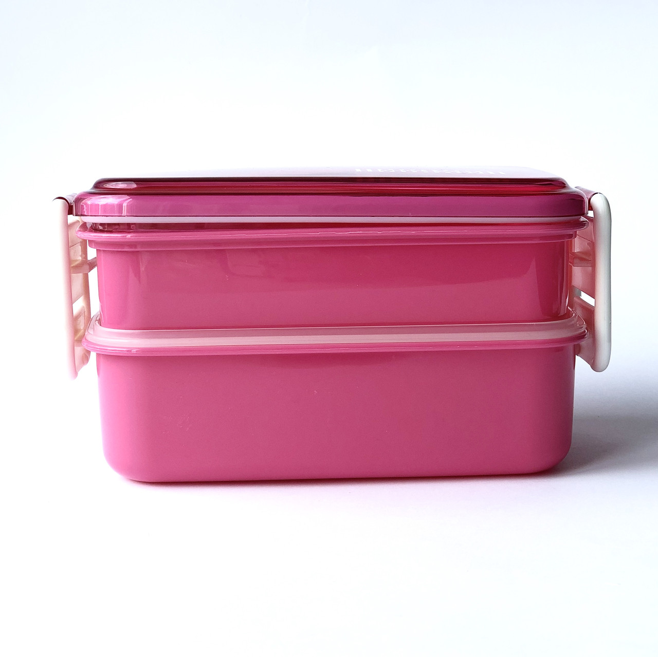 Двойной ланч бокс для еды - розовый