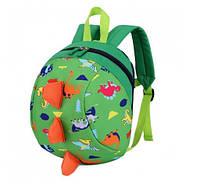 Детский рюкзак Динозаврик зеленый от 2 лет