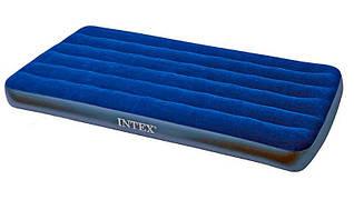 Intex Велюр матрац 68757 (4) синий, мал, 99х191х22см, в коробке