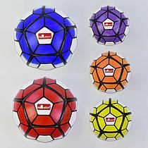 Мяч футбольный 772-443 (60) 380-400 грамм, 32 панели, 5 цветов, мягкий PVC