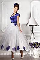 """Прокат 1500 грн. Вечернее платье в стиле ретро """"Цветочный блюз"""""""