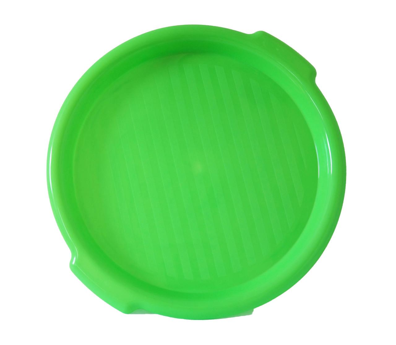 Поднос пластиковый круглый, 10 цветов, 35 см, ММ