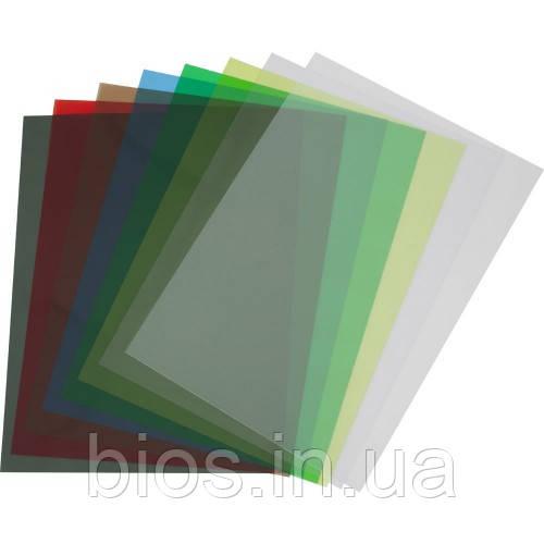 Обкладинка пластикова прозора різнокол А4, 180мкм
