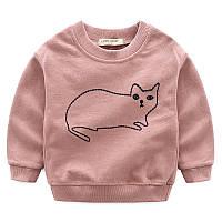 Детский джемпер с кошкой , Final Sale -40%, размеры: 120см,130см