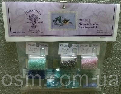 Бисер к схеме Mermaid Undine Mirabilia Designs Mill Hill Embellishment Pack