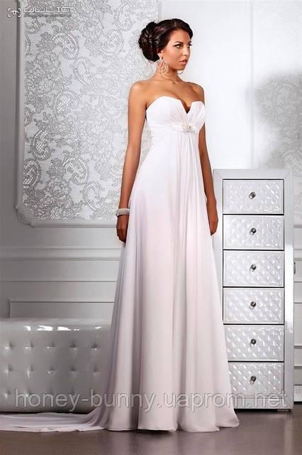 """Свадебное платье из шифона в стиле Ампир """"Empire"""""""