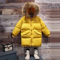Модная зимняя парка с капюшоном  , распродажа склада: 100см,110см,120см,130см