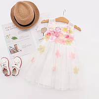 Кружевное платье для маленьких принцесс с цветами: 116см,128см,136,98см