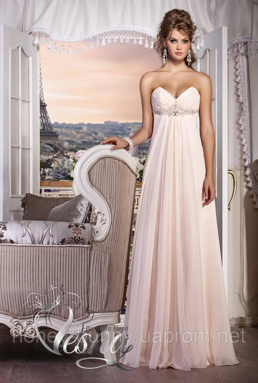 Свадебное платье в греческом стиле, со съемным шлейфом «Встреча с музой»