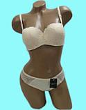 Комплект женский 907 (С) поролон кружево КОМИННЯ, фото 4