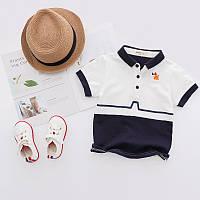 Стильная рубашка поло с короткими рукавами, качество ТОП