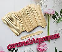 Шпатель лопатка - ложечка косметологический YRE деревянный 50 шт. 12,5 см