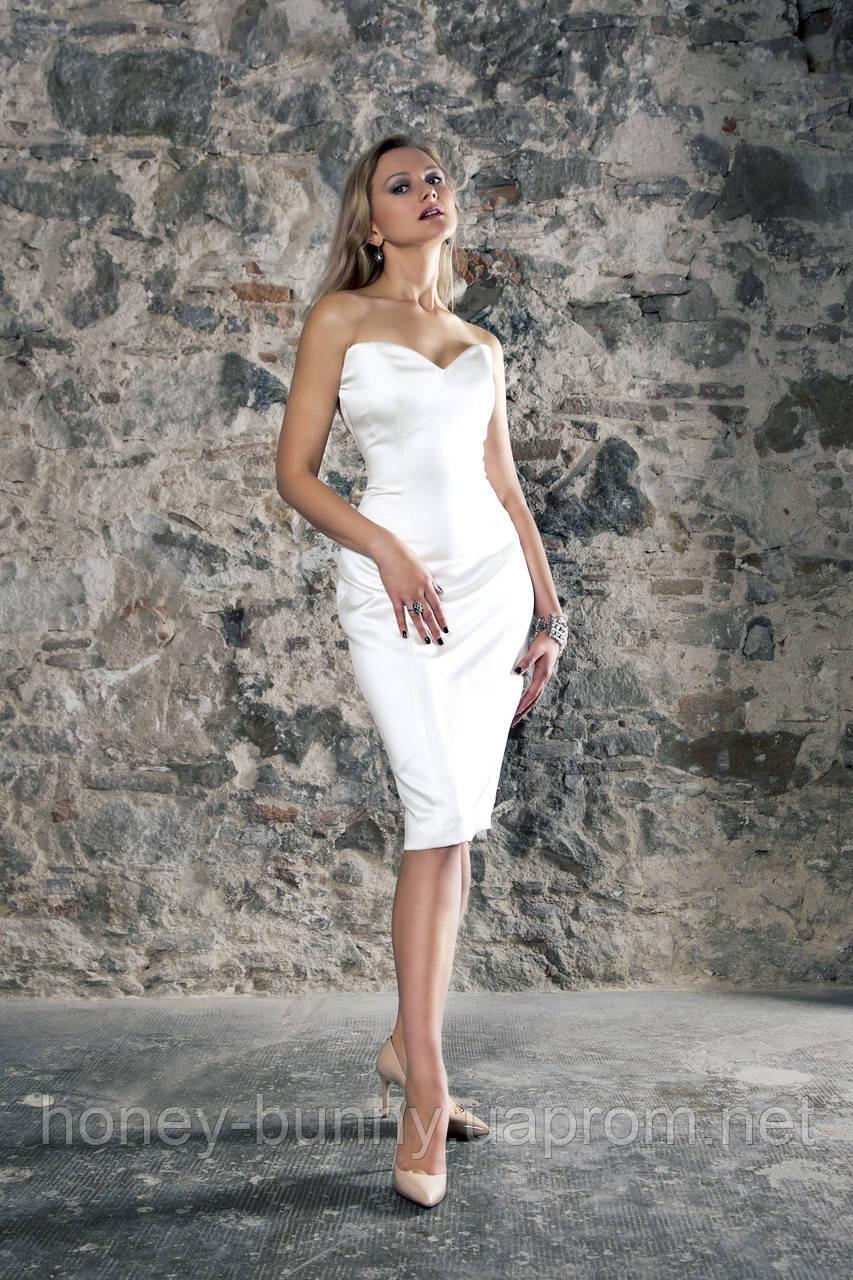 Прокат 3900 грн. Короткое свадебное платье с корсетом «My Fair Lady» французская длина