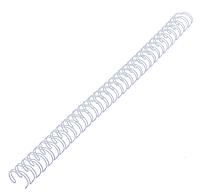 Металлическая пружина 8 мм 34 петли 3:1 белая