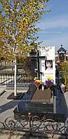 Памятник с православным крестом из мрамора и гранита №106