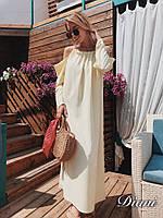 Женское Платье «Фисташка»-лимонный
