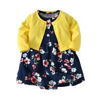 Летний комплект для девочки (платье + кофточка) , Mega Sale -25% off, размеры : 24M,6M,9M