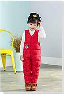 Теплые штаны-комбинезон для ребенка с Микки Маусом : 100см,110см