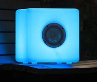 LED музыкальный динамик  Noblest Art светящийся куб для шоу, концертов, фестов 30 см  (LY3015)