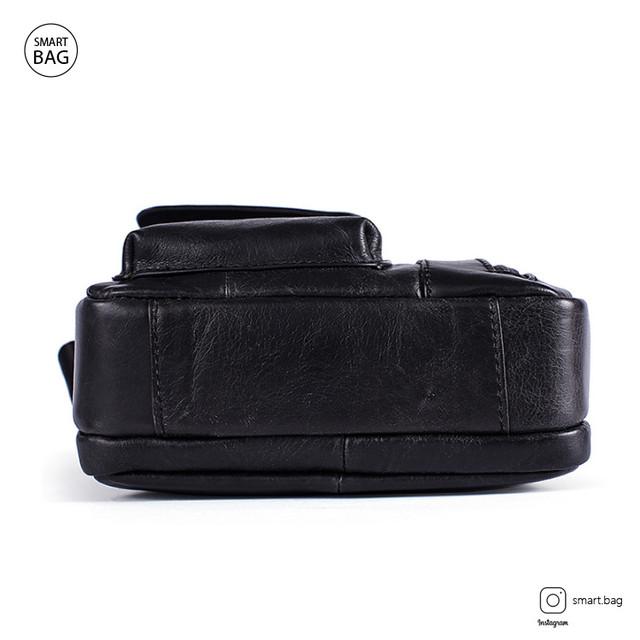 Кожаная сумка-барсетка Marrant | черная. Вид снизу
