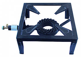Плита газовая однокамфорна переносная с краном на четыреx нижкаxтиск газа 2/37 мбар 544г /год-75кВт - VIROK