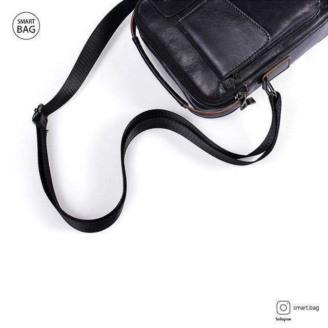Кожаная сумка-барсетка Marrant | черная. Вид сверху