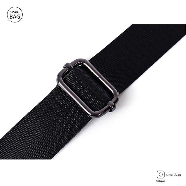 Кожаная сумка-барсетка Marrant | черная. Плечевой ремень