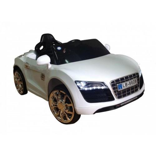 Электромобиль детский Audi R8 белая