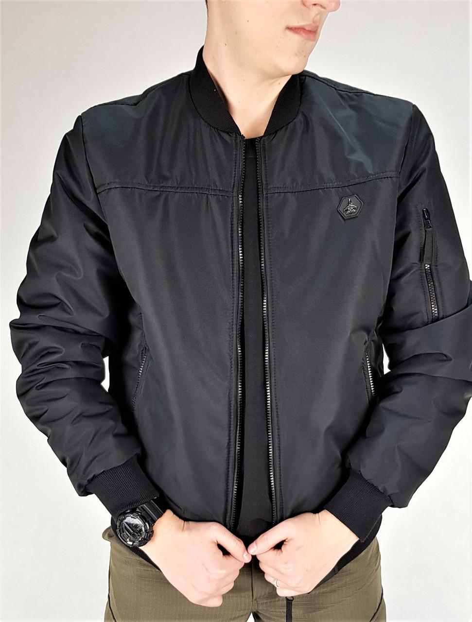 Куртка демисезонная пилот черная