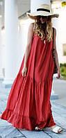 Довге пляжне плаття з льону в підлогу. Колір в асортименті, р-р 42-74+ плюс